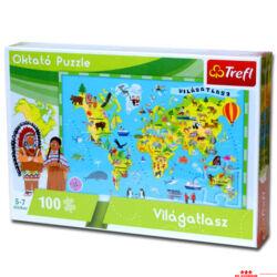 Oktató puzzle - világatlasz