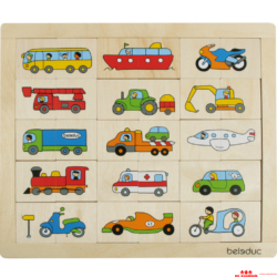 Felezőkirakó - járművek