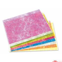 Vékony szövetpapír arany szálakkal - 10 lap