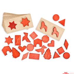 Táblák és formák - piros