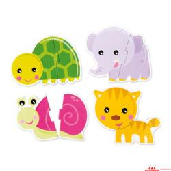Színes állatok puzzle