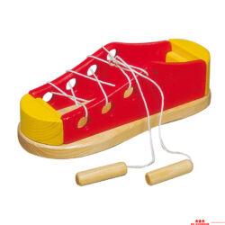 Nagy fűzögetős cipő