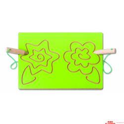 Kétkezes íráselőkészítő tábla - virág