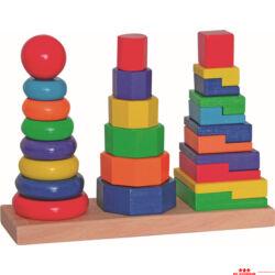 Színes toronyépítő