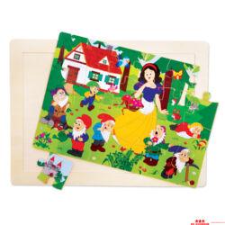 Hamupipőke - fa puzzle